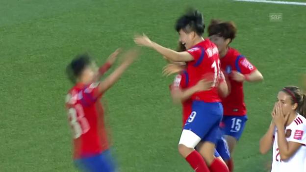 Video «Fussball: Frauen-WM, Traumtor Kim Sooyun» abspielen