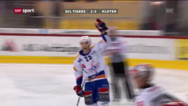 Video «NLA: SCL Tigers - Kloten» abspielen