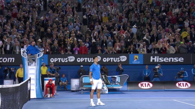 Video «Tennis: Australian Open Final 2015, Live-Highlights Djokovic - Murray» abspielen