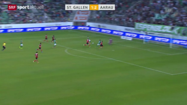 Video «Fussball: Super League, St. Gallen - Aarau» abspielen