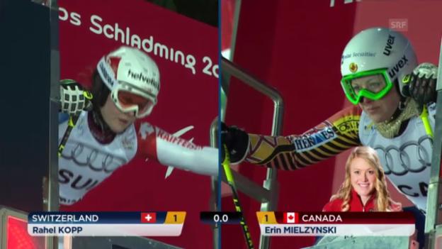 Video «Ski-WM: Teamevent, Kopp-Mielzynski» abspielen