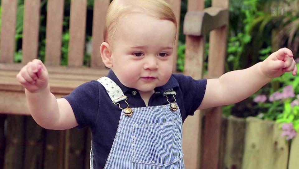 Eine glatte Sechs für Baby George