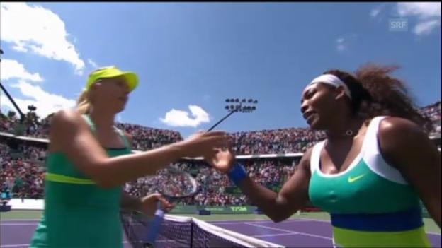 Video «Tennis: Williams - Scharapowa («sportaktuell»)» abspielen