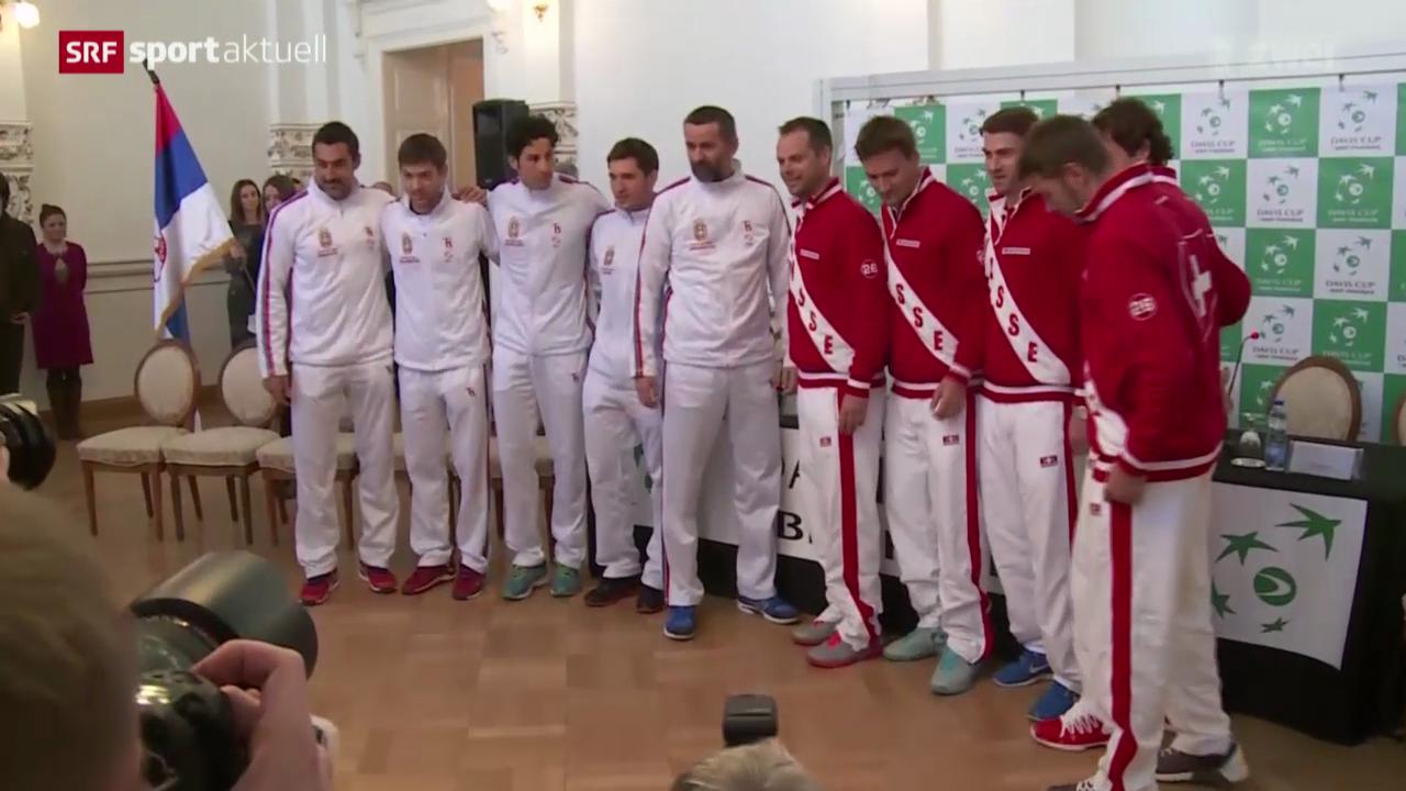Tennis: Die Schweiz vor dem Davis-Cup-Auftakt gegen Serbien