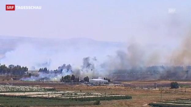 Video «Zwei UNO-Soldaten bei Grenzübergang Syrien-Israel verletzt» abspielen
