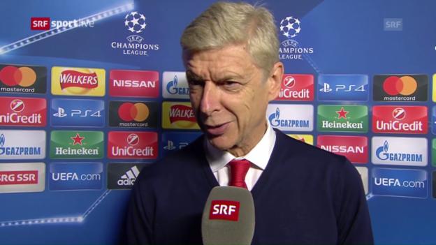 Video «Wenger: «Wir haben hervorragend gespielt»» abspielen