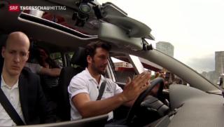 Video «Selbstfahrendes Auto getestet» abspielen