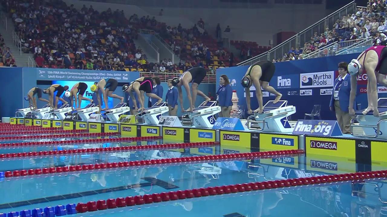 Schwimmen: Kurzbahn-WM Doha, Halbfinal Delfin mit Danielle Villars