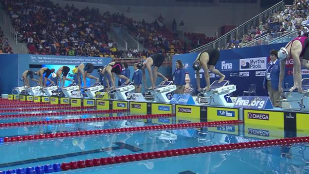 Video «Schwimmen: Kurzbahn-WM Doha, Halbfinal Delfin mit Danielle Villars» abspielen