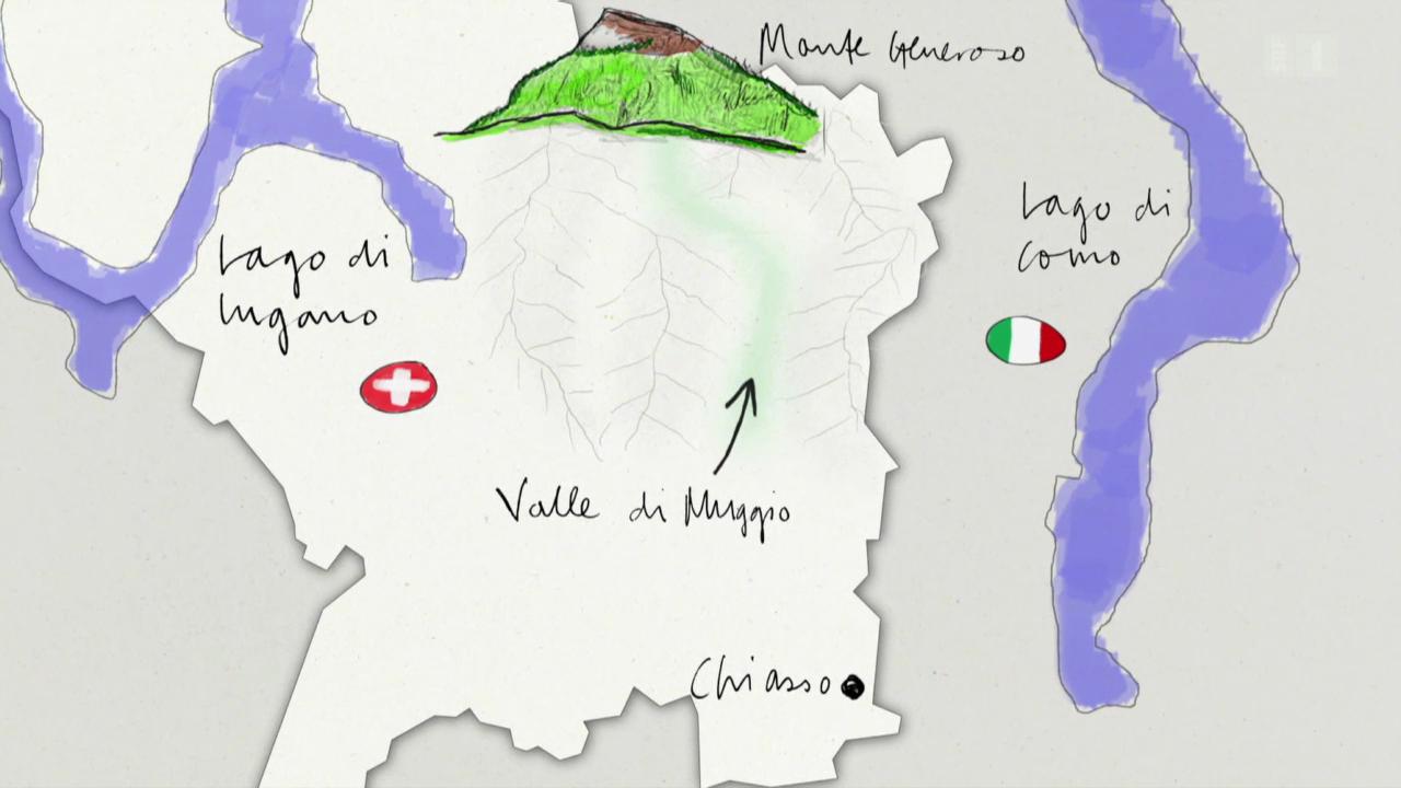 1. Tag: Breggia-Schlucht - Bruzello - Cabbio