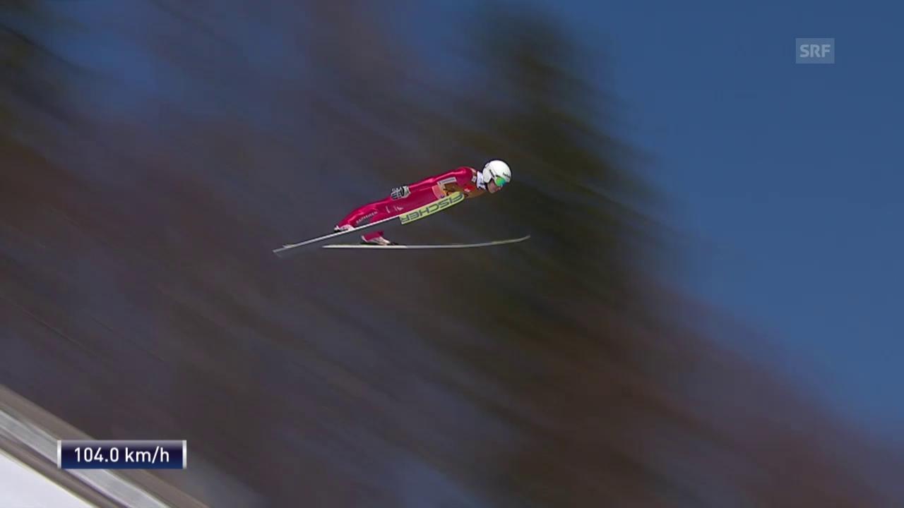 Simon Ammann egalisiert in Planica den Schweizer Rekord (unkommentiert)