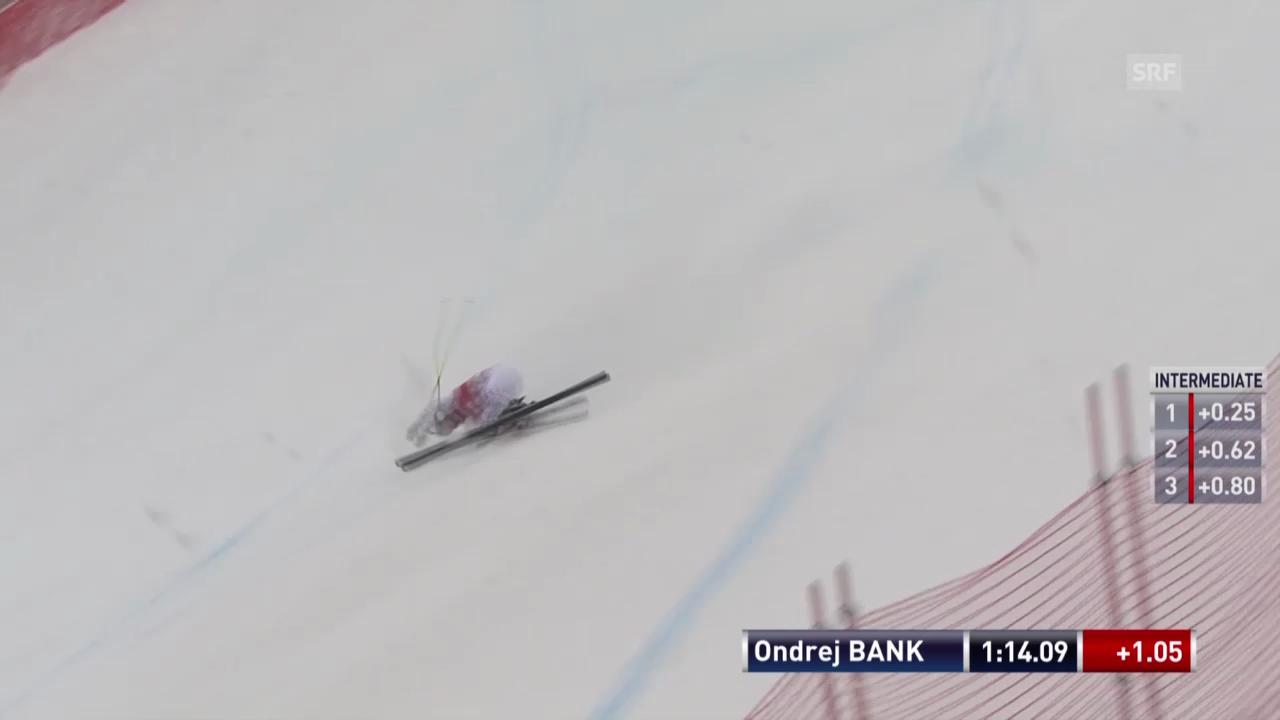 Ski: Super-G Kvitfjell, Sturz von Ondrej Bank («sportlive», 2.3.14)