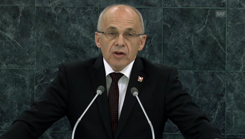 Ganze Rede des Bundespräsidenten vor der UNO (franz.)