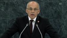 Video «Ganze Rede des Bundespräsidenten vor der UNO (franz.)» abspielen