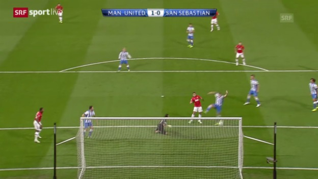 Video «CL: Manchester United - Real Sociedad San Sebastian» abspielen