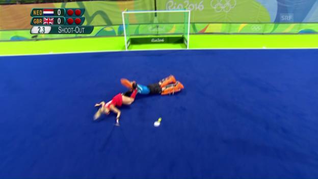 Video «Landhockey kurios: Ein Penalty im Penaltyschiessen» abspielen