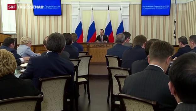 Video «Medwedew auf der Krim» abspielen