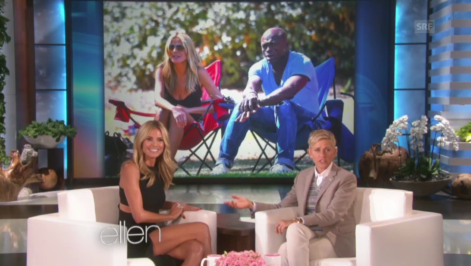 Heidi Klum bei Ellen DeGeneres