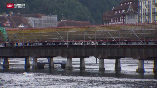 Video «Kapellbrücke wird renoviert» abspielen