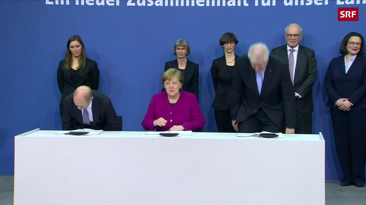 Neue grosse Koalition in Deutschland ist besiegelt