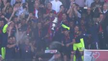 Link öffnet eine Lightbox. Video Pokal für Basel, Champagner-Dusche für Parmelin abspielen