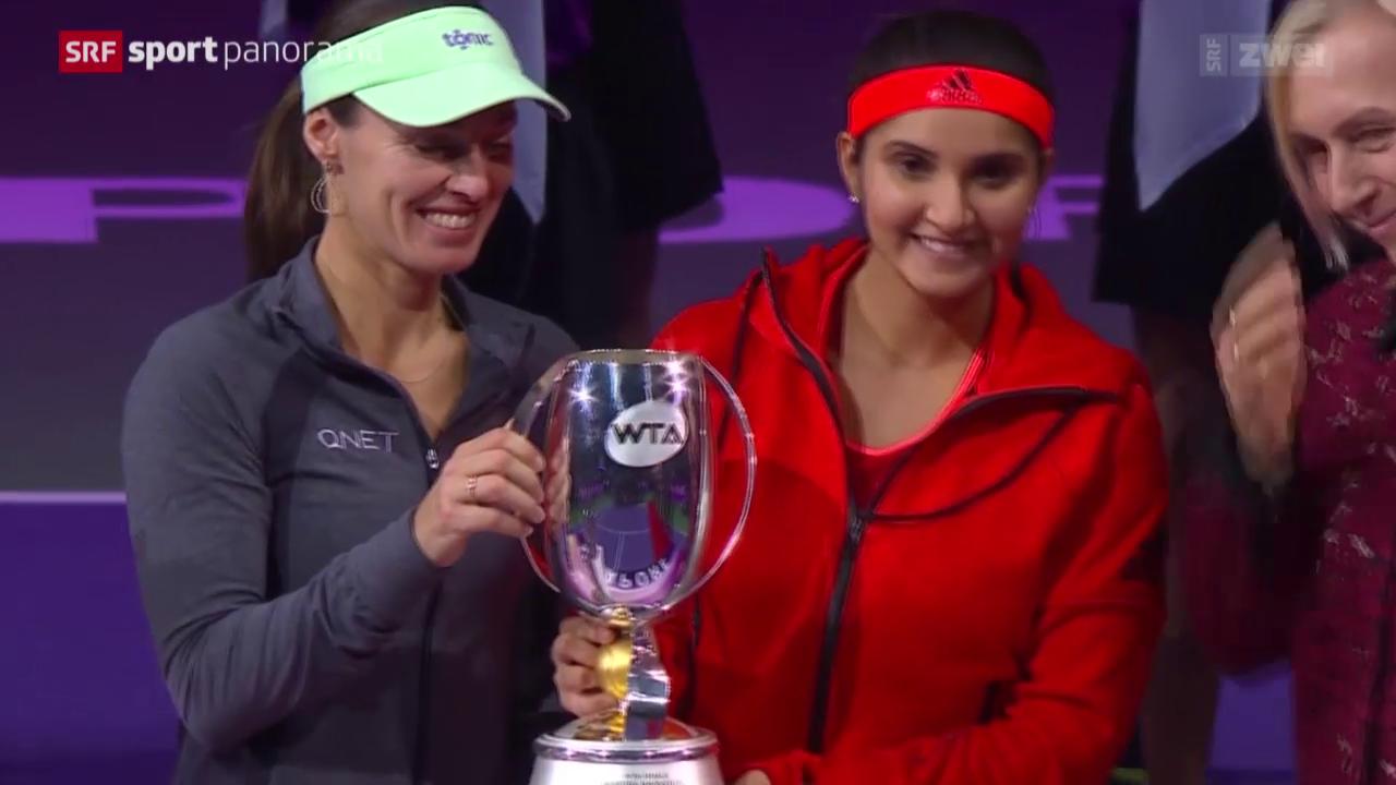 Tennis: WTA Finals, Hingis/Mirza - Muguruza/Suarez Navarro
