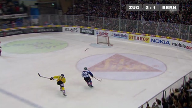 Video «Eishockey: 6. Viertelfinalspiel SC Bern - Zug («sportaktuell» 09.03.2009)» abspielen