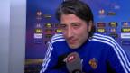 Video «Fussball: Vor Basel-Salzburg, Interview mit Murat Yakin» abspielen