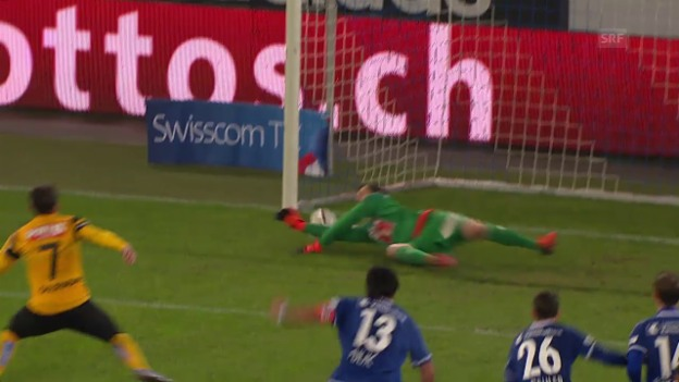 Video «Fussball: Super League, Luzern - YB, Penalty Sulejmani» abspielen