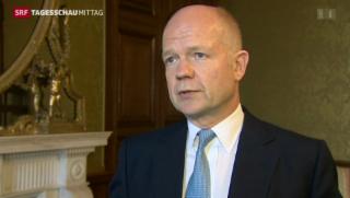 Video « Britischer Aussenminister tritt zurück » abspielen