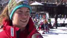 Video «Ski: WM 2015 Vail/Beaver Creek, Michelle Gisin: «Muss Vollgas geben»» abspielen