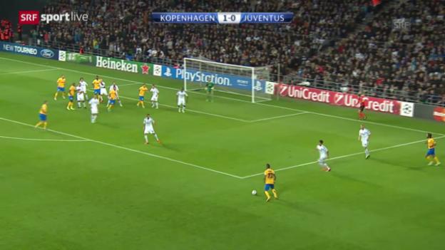 Video «CL: Kopenhagen - Juventus Turin» abspielen