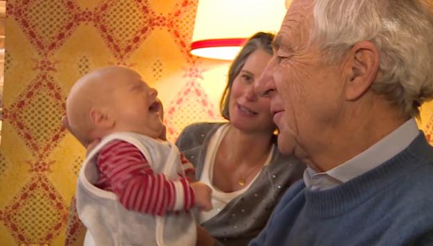 Video «Hanspeter Danuser zeigt seinen Sohn Lennart Leo» abspielen