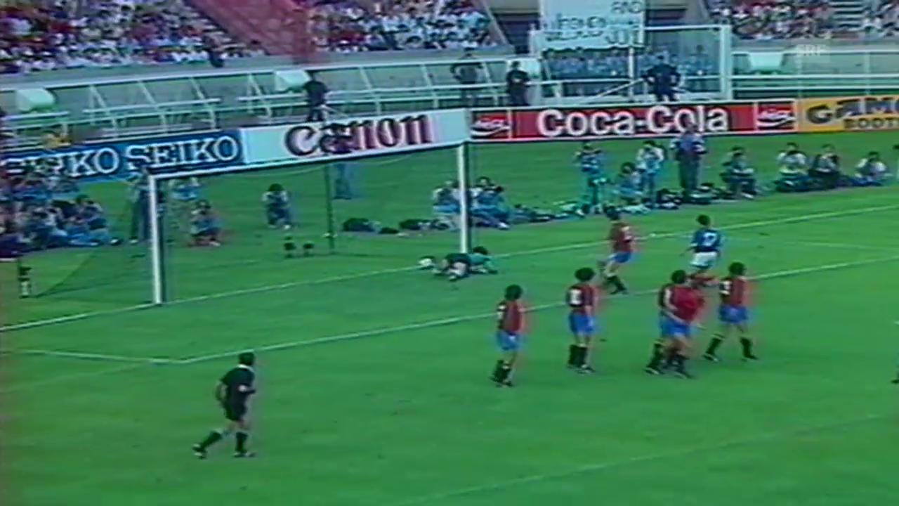Fussball: EM 1984, Freistoss-Tor Platini