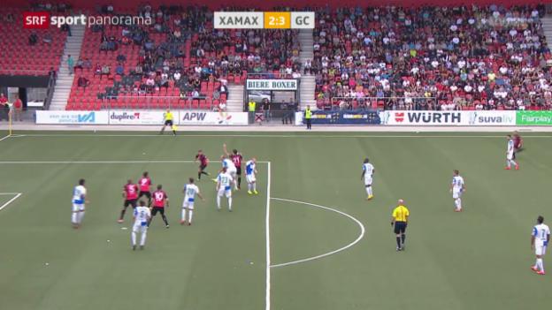 Video «Fussball: Schweizer Cup, Xamax - GC» abspielen