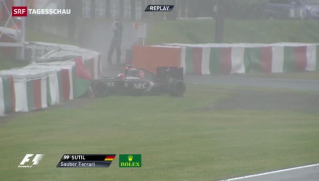 Video «Formel-1-Rennen von schwerem Unfall überschattet» abspielen