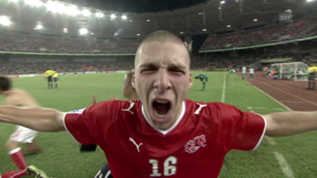 Video «Fussball: Schweiz mit 4 U17-Weltmeistern gegen San Marino» abspielen