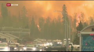 Video «Kanada im Kampf gegen die Flammen» abspielen