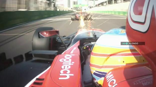 Video ««What an idiot»: Alonso macht seinem Ärger wegen Verstappen Luft» abspielen