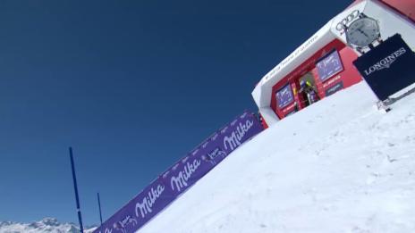 Video «Wendy Holdener verpasst im Slalom das Podest knapp» abspielen