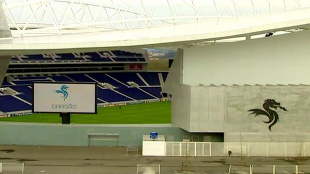 Video «Fussball: Impressionen vom Estadio do Dragao von Porto» abspielen