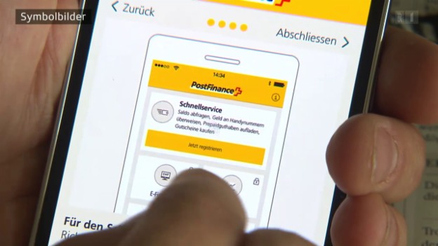 Video «Indiskrete Postfinance: App zeigt fremde Konti auf Handy an» abspielen