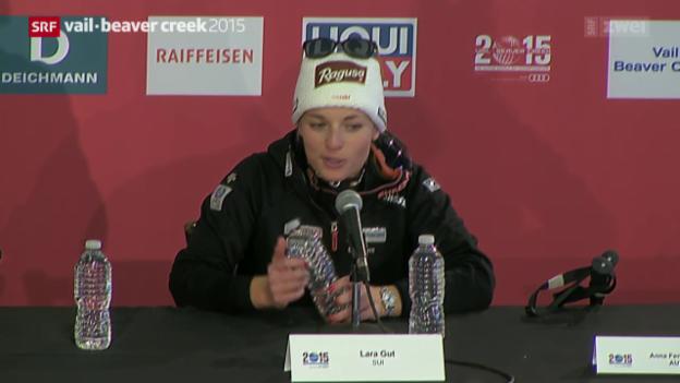 Video «Lara Gut an der Pressekonferenz» abspielen