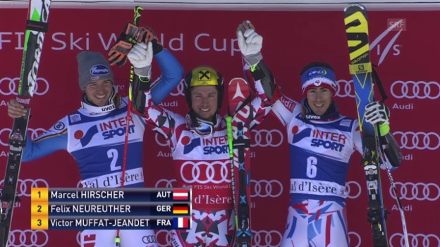 Video «Ski: ZF Riesenslalom Val d'Isère» abspielen
