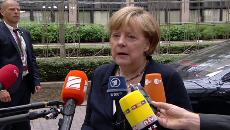 Merkel appelliert an Solidarität