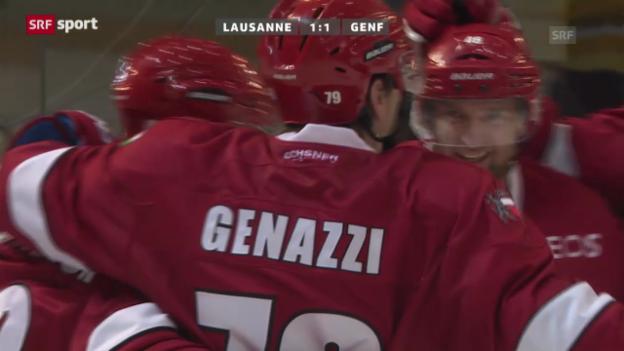 Video «NLA: Lausanne - Genf («sportaktuell»)» abspielen