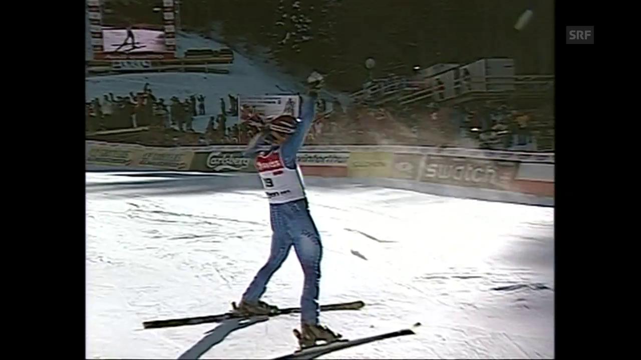 Rückblick auf Bruno Kernens Siegesfahrt am Lauberhorn 2003