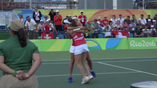 Video «Hingis/Bacsinszky stehen im Olympia-Halbfinal» abspielen
