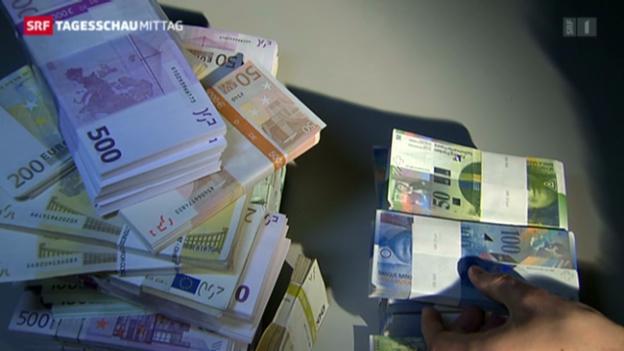 Video «Eurokurs steigt zum Franken» abspielen