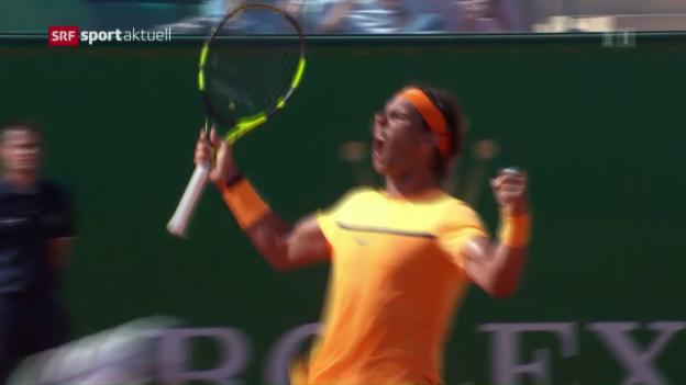 Video «Nadal zieht in Monte-Carlo in den Final ein» abspielen